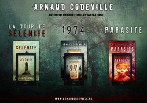 Arnaud CODEVILLE, roman horreur litterature jeunesse